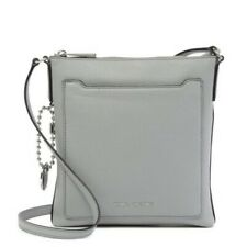 NWT Marc Jacobs Tourist Leather Crossbody Bag - Storm Grey - Taille