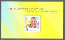 Australia-gold MEDAGLIA GIOCHI OLIMPICI 2012 (issue2016) abbattuto o scosso tallent-mnh min foglio
