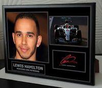 Lewis Hamilton Signed Framed Canvas Print