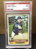 1976 Topps #138 LERRIN LaGROW Detroit Tigers - PSA 9