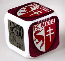 Réveil numerique Digital FC METZ Cube à effet lumineux alarme football