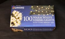 SALE!!!   100 WARM WHITE LED THE CHRISTMAS WORKSHOP STRING LIGHTS 75440 (4316)