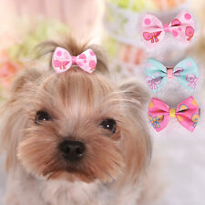 10pcs Dog Pet Bow Tie Hair Clip Yorkshire Dog Hairpin Clips Pet Hair Accessory
