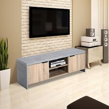 Homcom 1.2m Wooden TV Stand Cabinet Home Media Center DVD CD Storage Unit Entert