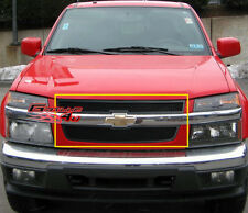 Fits 04-10 Chevy Colorado Black Stainless Mesh Grille Insert