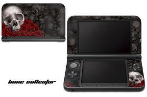 Skin Decal Wrap for Nintendo 3DS XL Gaming Handheld Sticker 12-15 BONES BLACK
