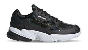 Adidas Damen Sneaker Falcon Schwarz Iridescent viele Größen NEU