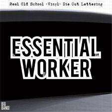 Essential Worker Vinyl Decal Sticker Emergency Services Health Care Trucker