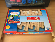 Authentic Wooden Thomas Train 4 Pieces Clickety Clack 3 1/2 Inch Curved Track!