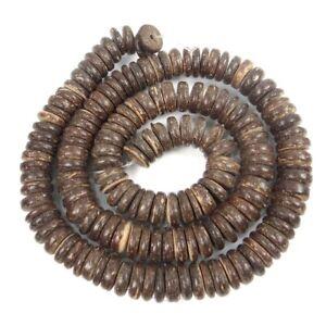 8mm Natural Coconut Heishi Rondelle Beads full strand