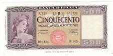 1947 Italy 500 Lire, Cinquecento, Cat. 29A, Uncirculated - P166