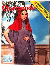 CINEMONDE 15/09/1955; Pier Angeli/ Gordon Scott/ Françoise Arnoul/ Constantine E