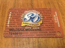 Obsolete Station Casinos 30th Anniversary Slot Card *Las Vegas Nv * Gold Bp 2006