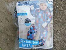 DOUDOUNE Combinaison Hiver Ski  LUPILU 6/12 mois ..74/80 cm  Multicolore NEUVE