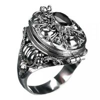 Gift- Ring mit Onyx, 925er Silber- Ring, Giftring, Gothic Stein