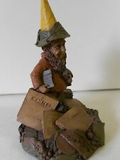 "Nos Tom Clark Gnome Collectible ""Pedro"" '86 Ed #56 Newspaper/Typesetter Gnome!"