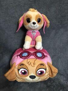 "Ty PAW PATROL ""SKYE"" Rescue Pup Puppy Dog Pink Sky Plush 8"" And Bonus Squish"