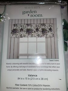 Retired Waverly SWEET VIOLETS  Ruffled Valance 84 X 15 - New in Package