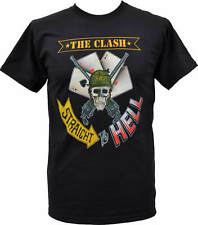 THE CLASH STRAIGHT TO HELL ARMY SKULL T-Shirt Tee Cotton Reprint S-4XL DB582