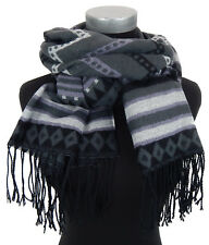 écharpe pour femmes gris noir blanc violet par Ella Jonte écharpe automne hiver