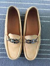 Salvatore Ferragamo Camel Tan Suede Driving Loafers Women's SZ 5 Pre Owned