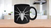 Spider Mug Black Coffee Cup Funny Gift Halloween Man Woman Sense arachnologist