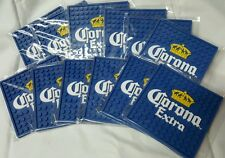 CORONA EXTRA RUBBER COASTER SET 12 BAR RAIL SPILL MAT STYLE MINI MATS NEW