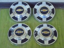 "73-87 Chevy 3/4 1 Ton Dog Dish HUBCAP 12"" Set of 4 Pickup Truck 16 16.5"" C20 C30"