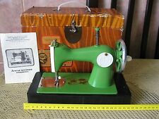 USSR Toy Sewing Machine Stitching Russian Children Box Child Old Vintage Soviet