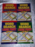 4 X A4 LARGE PRINT WORD SEARCH PUZZLE BOOKS 64 PUZZLES PER BOOK HOLIDAY FLIGHT