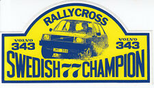 VOLVO 343 RALLY CROSS 1977 Swedish Champion Original Stricker Aufkleber /8