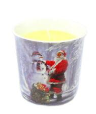 Christmas Scented Candle - Santa & Snowman - Leonardo Collection