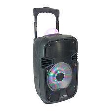 "Si prega di batteria portatile Sound System 8"" 300 W Astro FM bluetooth + microfono DJ SET KARAOKE"