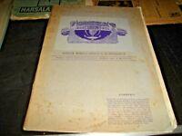rivista d'arte e mondanità UNICA anno I° N. 4 - 30/10/1906 edita a CATANIA