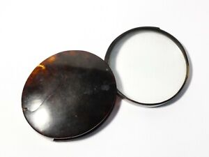 """Antique Georgian Faux Tortoiseshell Swing Out Magnifying Glass a/f 4"""" dia."""