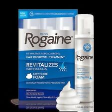 Rogaine Hair Regrowth Men 5% Minoxidil Topical Foam 3 month supply Exp 02/2021