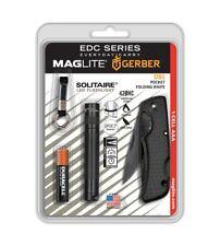 MAGLITE ®  Solitaire Mag-Lite LED Taschenlampe + Gerber US1  Taschenmesser