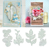 Leaves Metal Cutting Dies Scrapbooking Craft Die Cuts Foliage DIY Stencil Album