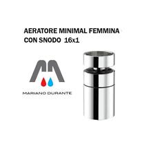 AERATORE ROMPIGETTO FILTRINO MINIMAL 360° FEMMINA CON SNODO 16X1  CROMATO