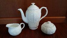 WEDGWOOD COUNTRYWARE COFFEE POT SUGAR BOWL CREAMER TEA ENGLAND COUNTRY WARE