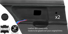 Grey stitch M à rayures 2X Porte Arrière Carte Lthr Covers for BMW E36 Saloon Style 2