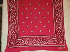 Vintage Red Bandana~Fast Color-Rn13960~Made in Usa~All Cotton