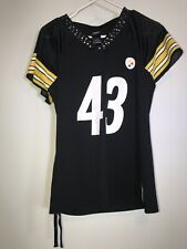 NFL Reebok Womens #43 Troy Polamalu Jersey Pittsburgh Steelers Sz  M Bedazzled