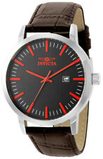 Invicta Specialty 22315 Men's Round Black & Red Analog Date Leather Watch