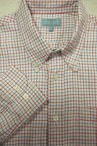 GORGEOUS Castaway Nantucket Island Cotton Flannel Check Shirt 17x35