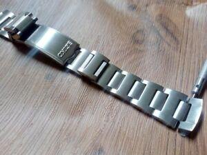 19mm Steel watch band 80's Pogue KS LM GS Bracelet For seiko 6139 6138 chrono