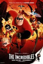"Disney's Pixar INCREDIBLES 2004 Original DS 2 Sided 27x40"" US Movie Poster MINT"