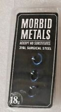 Morbid Metals 18g Nose Rings (pack of 3) Blue Hoops Great Price! NEW!