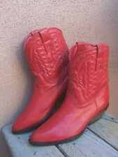 ZODIAC  Womens Cowboy Boots Soft Red Leather Western Riding High Fashion Size 6M