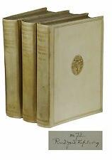 Verse ~ RUDYARD KIPLING ~ Signed x 3 ~ Limited 1/100 First Inclusive Edition Set
